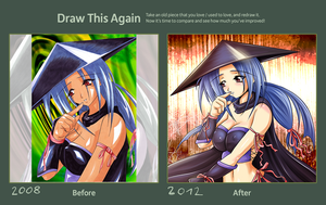 Draw this Again ladyninja by Cramous