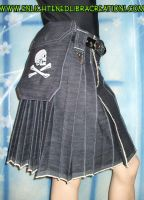 Hardcore Punk Pirate Kilt 2 by RedheadThePirate
