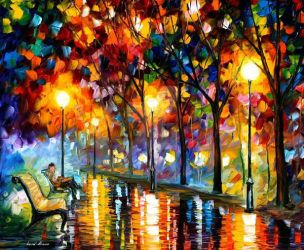Evening 2 by Leonid Afremov by Leonidafremov