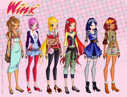 (Fm) Winx Club new casual by Woogyuxi