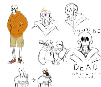 US Papyrus doodles by Rascal-Rose
