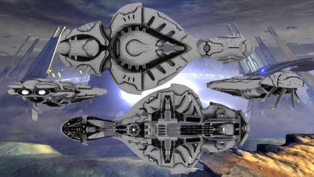 Covenant Cruiser Halo 4 (DL) by enderianc