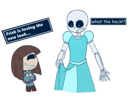 Undertale - getting ready for halloween by Kaossolver