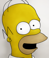 Homer Simpson by iceiwynd