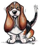 Happy Go Lucky Basset Hound by Ashwin24