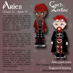 Goth Zodiac: Aries by Trellia