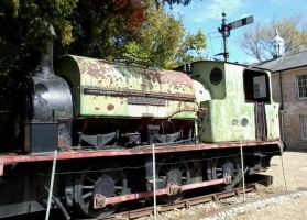 Saddle-Tank Locomotive at Caister by studentofthevoid