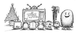 Dec23-advent-TV-monsters by billiambabble