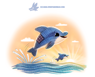 Daily Paint #1230. Dollphin by Cryptid-Creations
