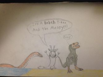 Zenny and the Beheh T-Rex and the Messy by Mechagodzilla604