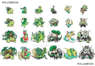 ALL MY ALOLA GRASS STARTERS!!! Your favourite? :) by villi-c