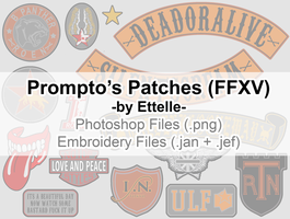 Prompto Argentum Patches by Ettelle