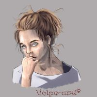 Character sketch girl by Volpe-art