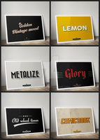 Retro and Vintage Text Effects by GreyFoxGR