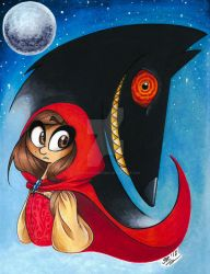 Red and The Wolf by BenjiLion09