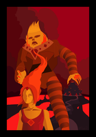Flame king and Flame Princess by Antervantei