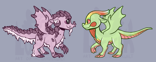 Wings of Fire Dragon Tribe Adoptables (2/2 Open!) by Lucheek