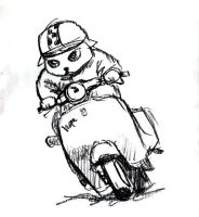 Vespa Riding by Switchum