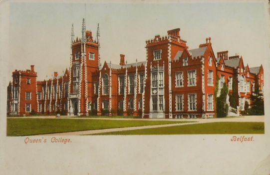 Vintage UK - Queen's College QUB by Yesterdays-Paper