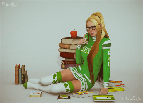 Student Chick by Frollein-Zombie