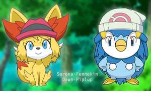 Serena and Dawn Pokemon TF