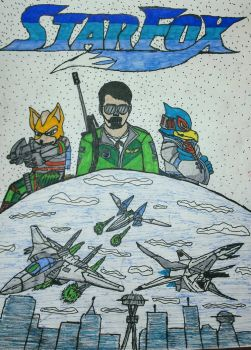Star Fox: But with a human!! by fox1432