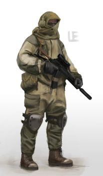 Soldier Concept by UniversalEverything