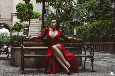 Lady in red III by Tikal-SH