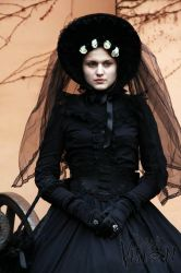 Early Spring Victorian Widow I by MaladiaNocturna