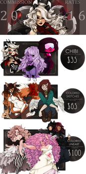 Commission Price Guide 2016 [OPENING SOON] by Marxis