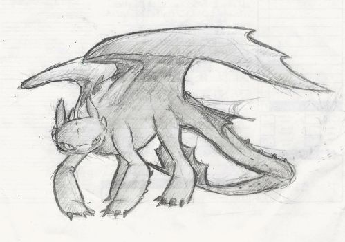 random Toothless by little-ampharos
