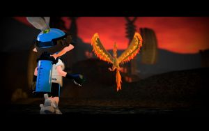 Battling Moltres by BrokenNooby64