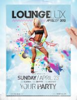 Lounge Party Flyer Template by jellygraphics