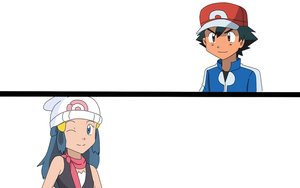 Ash and Dawn (unfinished) by TrainerAshandRed35