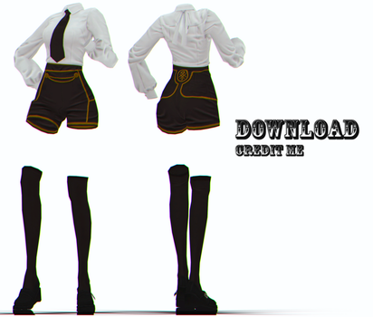 MMD: female BnS outfit dl by KlaidAstoria