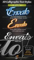 Calligraphic 3D text styles by stefusilviu