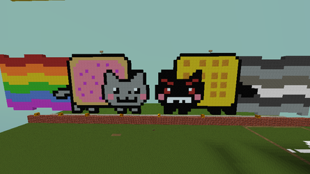 nyan cat and tac nyan by ronesglory