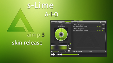 s-Lime aimp3 skin release by L3olaz