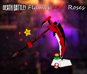 Death Battle: Flames and Roses by CobaltGlacier