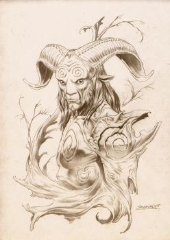 Pan's Labyrinth Original concept art by SergioSandoval