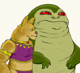 Kalu the Hutt and Evlyn the Aaroun by Croue-Battle