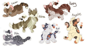 Adoptables | Kittens by Florapi