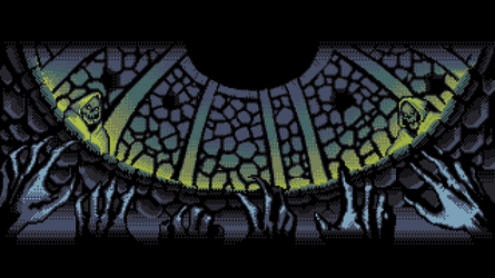 8-bit Adventure Anthology Background - The Pit by Polymental69