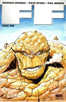 FF Sketch Cover - The Thing by josesartcave