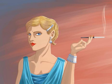 Woman 1920s by black-muffin
