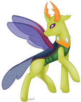 Thorax the changeling king + speedpaint by ACIDtheAD