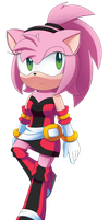 Amy Rose ( Mobius X years later) by GistMellow