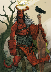 Hellboy king by Ultrafpc