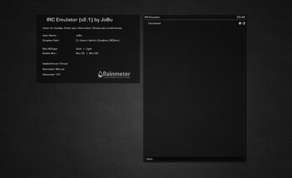 IRC Emulator (Adeline) ver2.1 for Rainmeter by DijiMoto