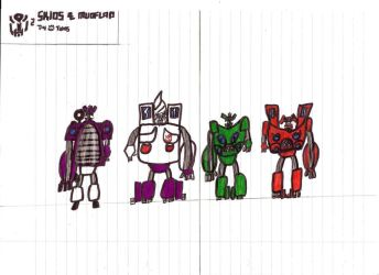 Autobot Twins Skids and Mudflap by JMK-Prime